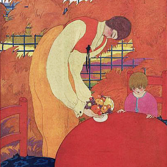 Georges Lepape Vogue Cover 1918-10-15 Copyright crop | Best of Vintage Cover Art 1900-1970