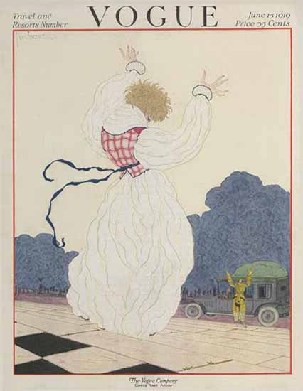 Georges Lepape Vogue Cover 1919-06-15 Copyright | Vogue Magazine Graphic Art Covers 1902-1958