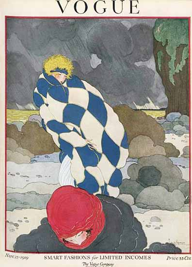 Georges Lepape Vogue Cover 1919-11-15 Copyright | Vogue Magazine Graphic Art Covers 1902-1958