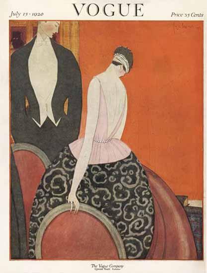Georges Lepape Vogue Cover 1920-07-15 Copyright | Vogue Magazine Graphic Art Covers 1902-1958