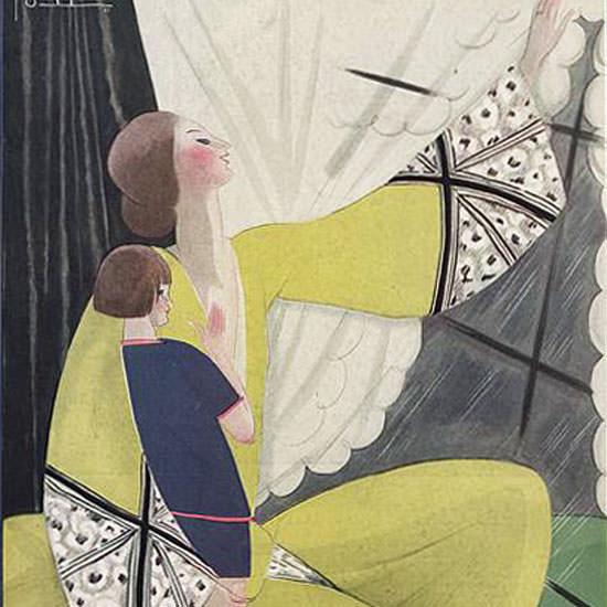 Georges Lepape Vogue Cover 1922-02-01 Copyright crop | Best of Vintage Cover Art 1900-1970