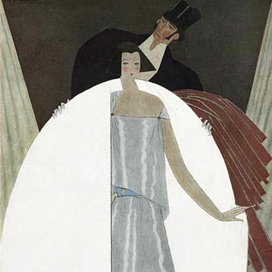 Georges Lepape Vogue Cover 1922-03-15 Copyright crop | Best of Vintage Cover Art 1900-1970