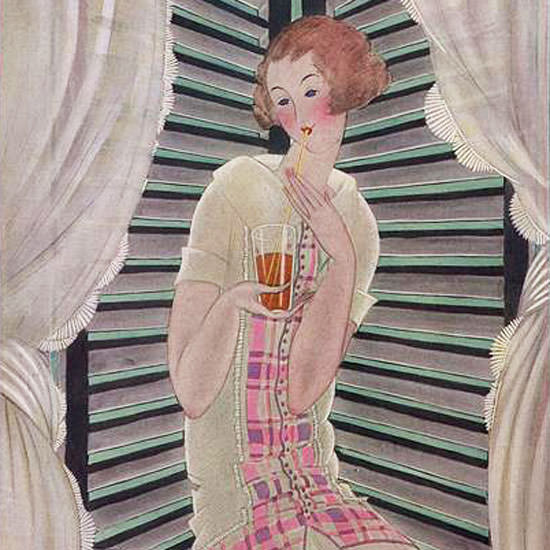 Georges Lepape Vogue Cover 1922-08-01 Copyright crop | Best of 1920s Ad and Cover Art