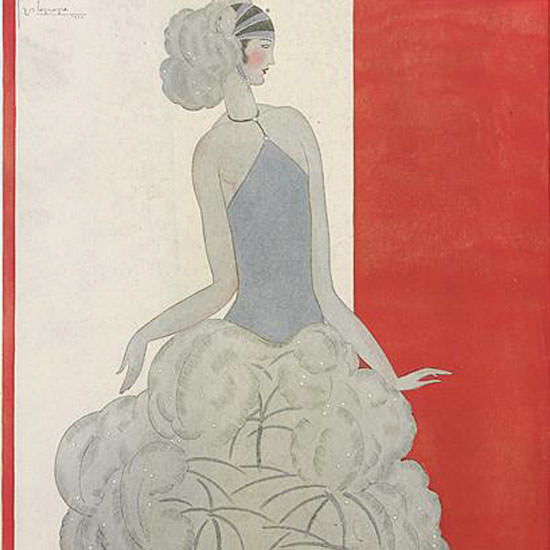 Georges Lepape Vogue Cover 1922-11-15 Copyright crop | Best of Vintage Cover Art 1900-1970