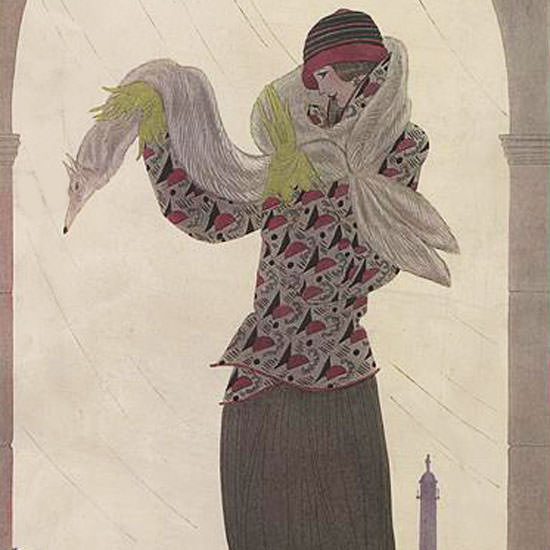Georges Lepape Vogue Cover 1923-10-01 Copyright crop   Best of 1920s Ad and Cover Art