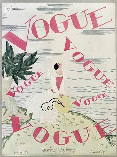 Georges Lepape Vogue Cover 1924-06-01 Copyright | Vogue Magazine Graphic Art Covers 1902-1958