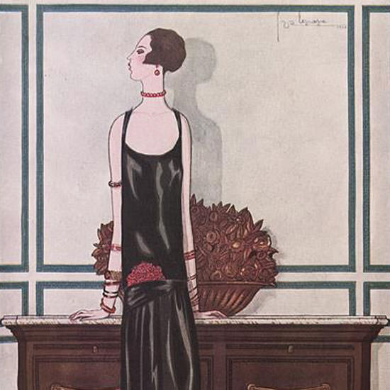 Georges Lepape Vogue Cover 1925-02-01 Copyright crop | Best of 1920s Ad and Cover Art