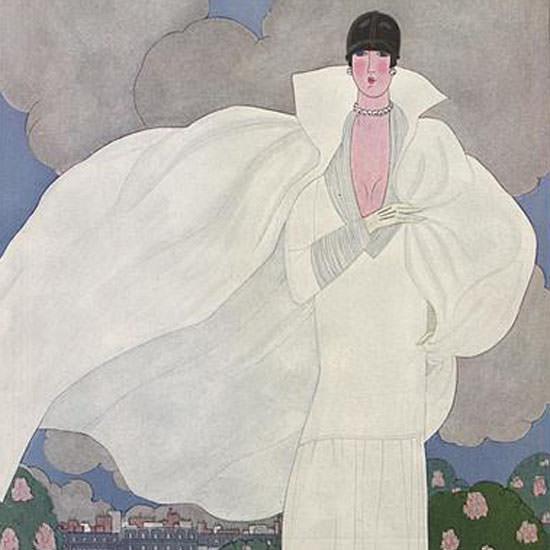 Georges Lepape Vogue Cover 1925-05-01 Copyright crop | Best of Vintage Cover Art 1900-1970