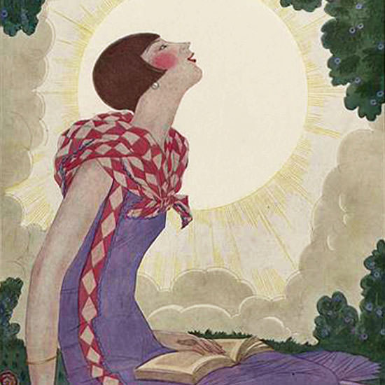 Georges Lepape Vogue Cover 1925-06-01 Copyright crop | Best of Vintage Cover Art 1900-1970