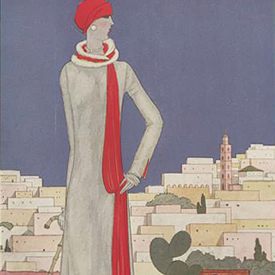Georges Lepape Vogue Cover 1926-01-01 Copyright crop | Best of 1920s Ad and Cover Art