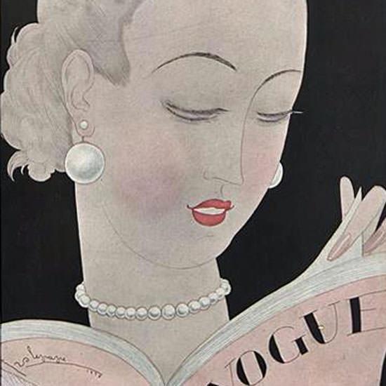 Georges Lepape Vogue Cover 1926-09-15 Copyright crop | Best of Vintage Cover Art 1900-1970