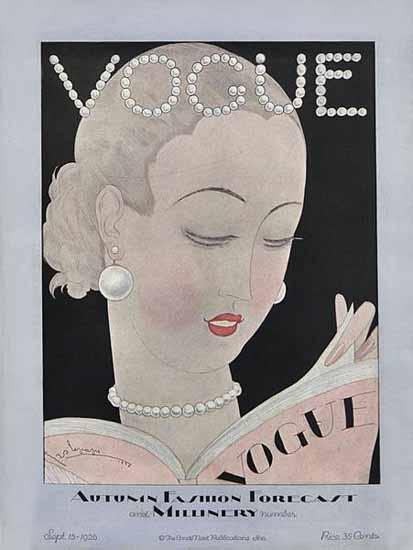 Georges Lepape Vogue Cover 1926-09-15 Copyright | Vogue Magazine Graphic Art Covers 1902-1958
