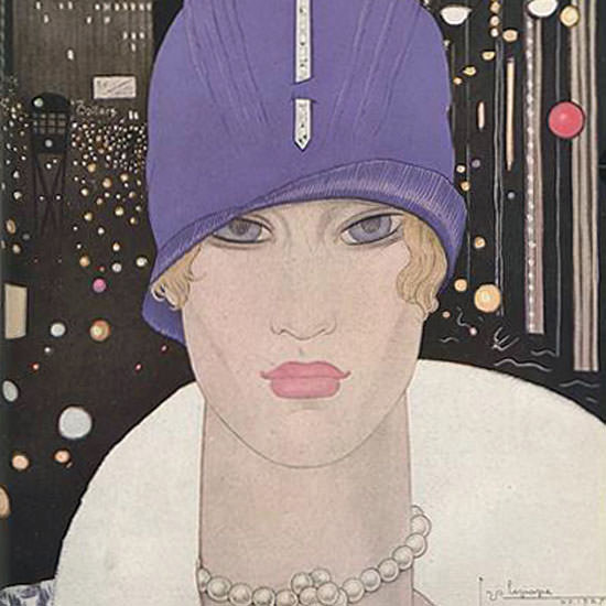 Georges Lepape Vogue Cover 1927-03-15 Copyright crop | Best of 1920s Ad and Cover Art