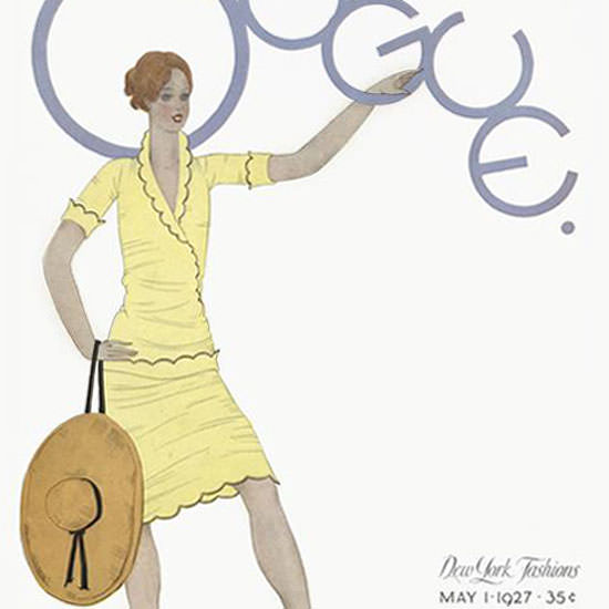 Georges Lepape Vogue Cover 1927-05-01 Copyright crop | Best of 1920s Ad and Cover Art