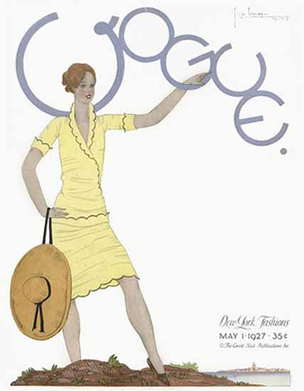 Georges Lepape Vogue Cover 1927-05-01 Copyright | Vogue Magazine Graphic Art Covers 1902-1958