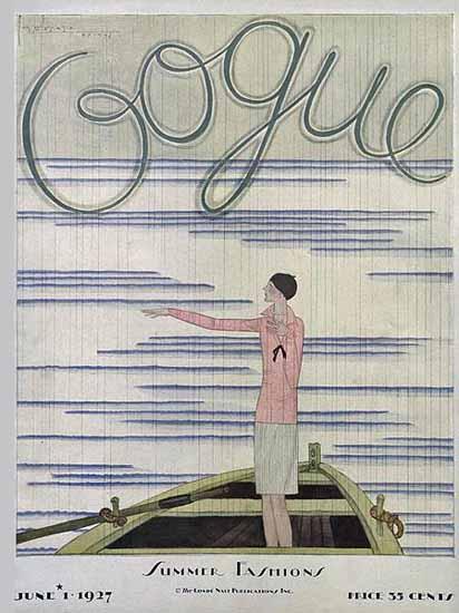 Georges Lepape Vogue Cover 1927-06-01 Copyright | Vogue Magazine Graphic Art Covers 1902-1958