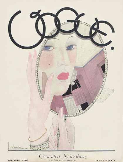 Georges Lepape Vogue Cover 1927-11-15 Copyright | Vogue Magazine Graphic Art Covers 1902-1958