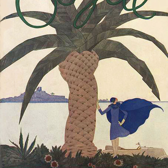 Georges Lepape Vogue Cover 1928-01-01 Copyright crop | Best of 1920s Ad and Cover Art