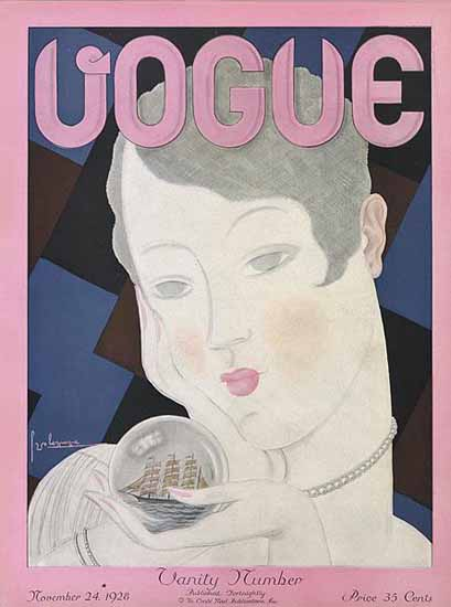 Georges Lepape Vogue Cover 1928-11-24 Copyright | Vogue Magazine Graphic Art Covers 1902-1958