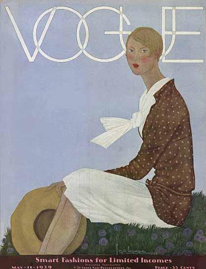 Georges Lepape Vogue Cover 1929-05-11 Copyright | Vogue Magazine Graphic Art Covers 1902-1958