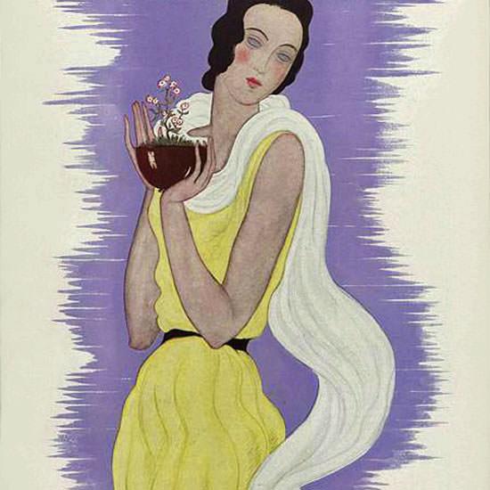 Georges Lepape Vogue Cover 1931-01-15 Copyright crop | Best of Vintage Cover Art 1900-1970