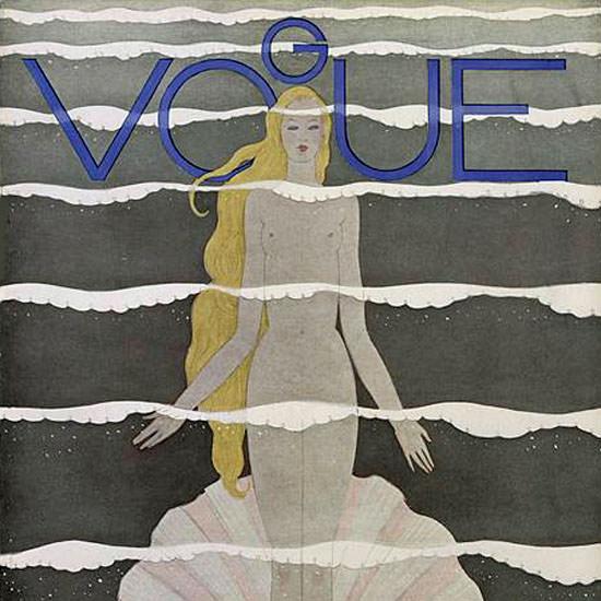 Georges Lepape Vogue Cover 1931-07-15 Copyright crop | Best of Vintage Cover Art 1900-1970