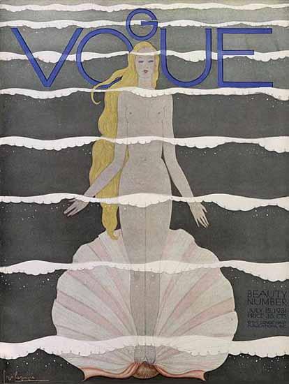 Georges Lepape Vogue Cover 1931-07-15 Copyright | Vogue Magazine Graphic Art Covers 1902-1958