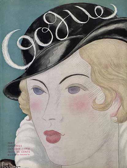 Georges Lepape Vogue Cover 1931-10-01 Copyright | Vogue Magazine Graphic Art Covers 1902-1958