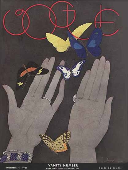 Georges Lepape Vogue Cover 1931-11-15 Copyright | Vogue Magazine Graphic Art Covers 1902-1958