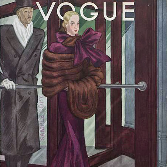 Georges Lepape Vogue Cover 1933-10-15 Copyright crop | Best of 1930s Ad and Cover Art