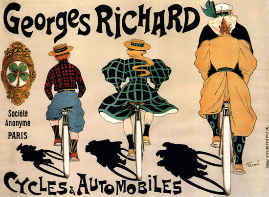 Georges Richard Cycles Automobiles Paris France | Vintage Ad and Cover Art 1891-1970