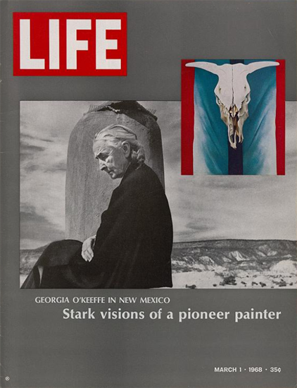 Georgia OKeeffe in New Mexico 1 Mar 1968 Copyright Life Magazine | Life Magazine Color Photo Covers 1937-1970
