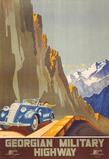 Georgian Military Highway | Vintage Travel Posters 1891-1970