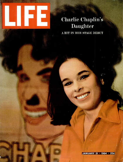 Geraldine Chaplin Champs-Elysees 31 Jan 1964 Copyright Life Magazine | Life Magazine Color Photo Covers 1937-1970