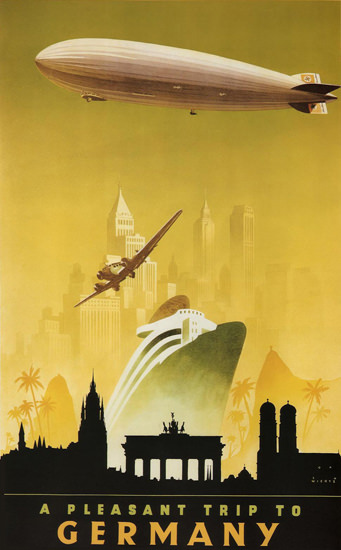 Germany A Pleasant Trip 1936 Jupp Wiertz | Vintage Travel Posters 1891-1970