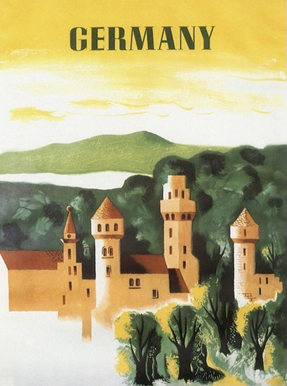 Germany Castle Forest | Vintage Travel Posters 1891-1970
