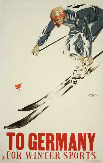 Germany For Winter Sports   Vintage Travel Posters 1891-1970