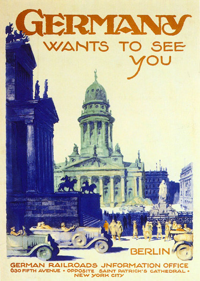 Germany Wants To See You Berlin 1930 Dzubas | Vintage Travel Posters 1891-1970