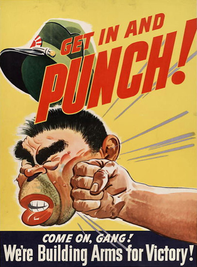 Get In And Punch Japan | Vintage War Propaganda Posters 1891-1970