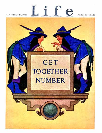 Get Together Number Life Humor Magazine 1921-11-10 Copyright | Life Magazine Graphic Art Covers 1891-1936