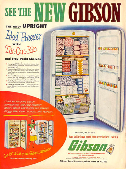 Gibson Freezer 1953 | Vintage Ad and Cover Art 1891-1970