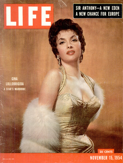 Gina Lollobrigida Wardrobe 15 Nov 1954 Copyright Life Magazine | Life Magazine Color Photo Covers 1937-1970