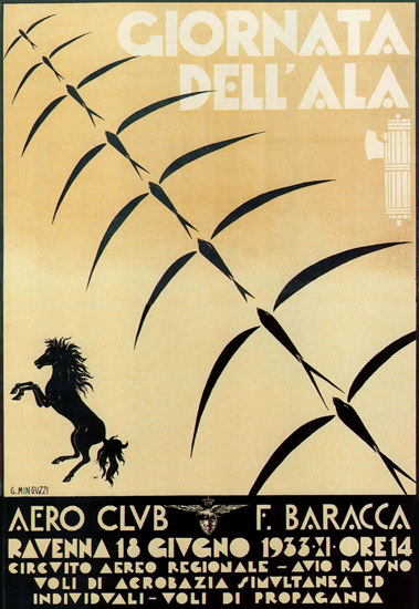 Giornata Dell Ala 1933 Ravenna Italia Italy | Vintage Ad and Cover Art 1891-1970