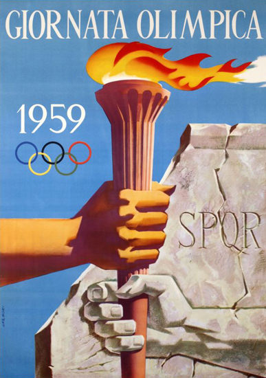 Giornata Olimpica 1959 | Vintage Ad and Cover Art 1891-1970