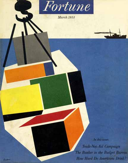 Giovanni Pintori Fortune Magazine March 1953 Copyright | Fortune Magazine Graphic Art Covers 1930-1959