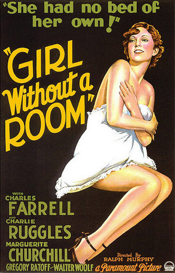 Girl Without A Room Marguerite Churchill 1933 | Sex Appeal Vintage Ads and Covers 1891-1970