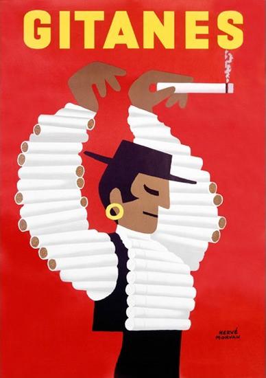 Gitanes Cigarette Flamenco Dancer Morvan | Vintage Ad and Cover Art 1891-1970