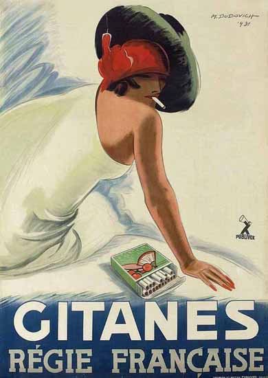 Gitanes Regie Francaise Ad 1931 France Sex Appeal | Sex Appeal Vintage Ads and Covers 1891-1970