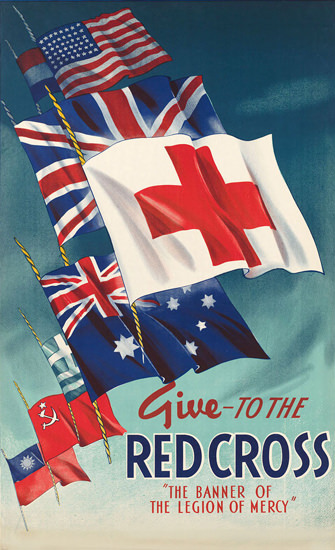 Give To The Red Cross Banner Of The Legion | Vintage War Propaganda Posters 1891-1970