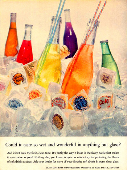 Glass Container Manufacturers Institute | Vintage Ad and Cover Art 1891-1970